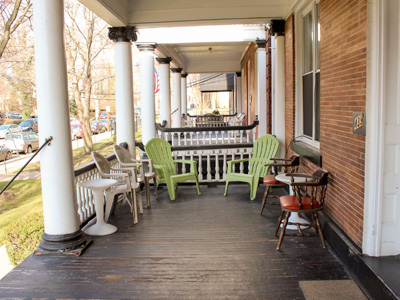 The front porch at Alpha House