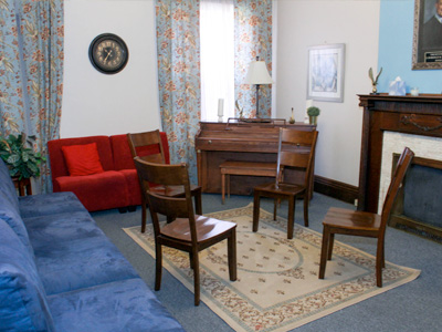 One of the Alpha House community meeting spaces